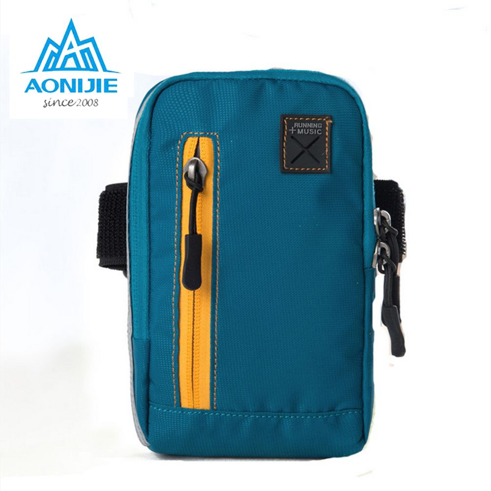 AONIJIE Arm Bags For Outdoor Running Coins Purse Sports Phone Mobile Wallet Key Package With Arm Shoulder Strap Free shipping