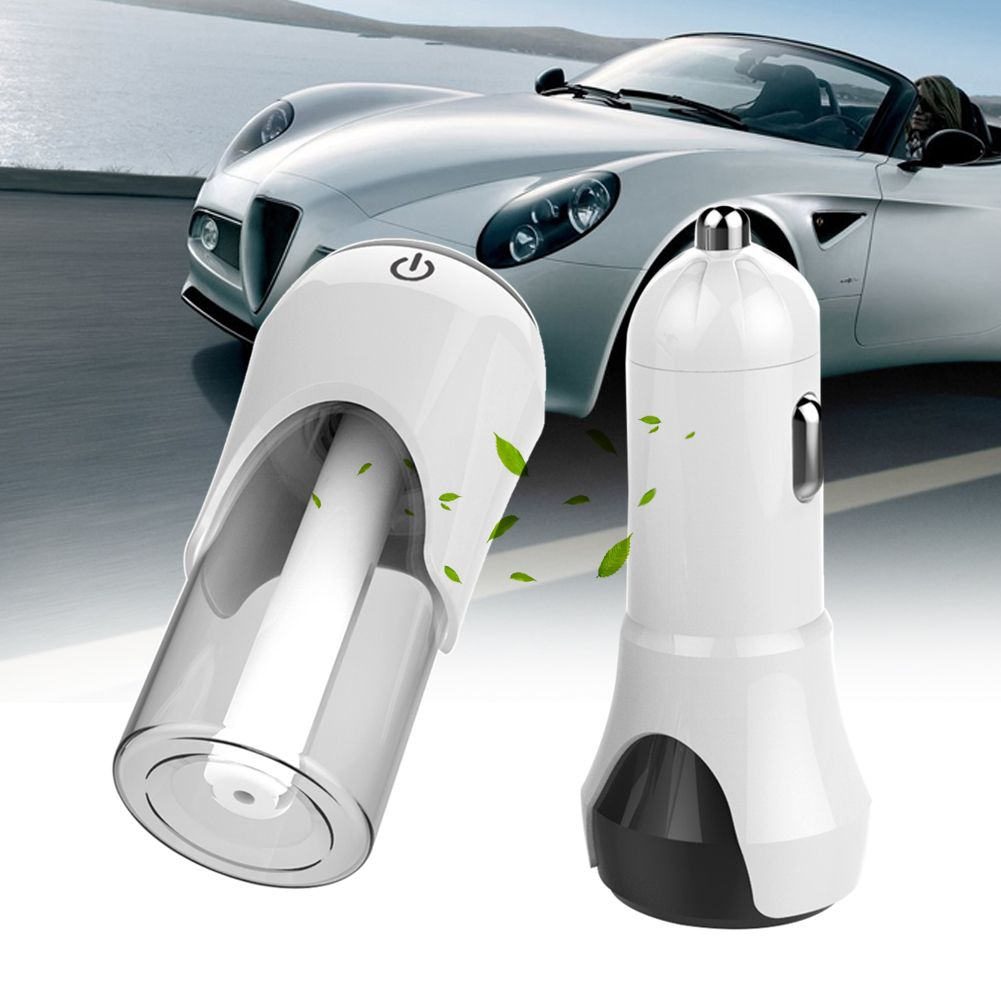 CarStyling Vehicle Mounted Humidifier Mini Dual USB Air Purifier Car Charger auto Machine Car Oxygen Bar suit in car/home/office