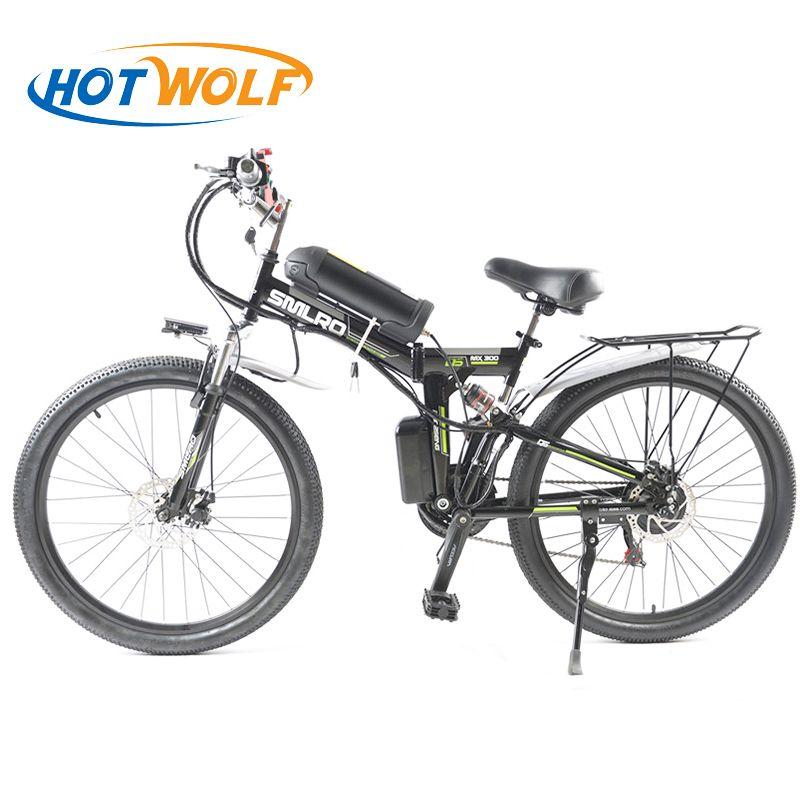 26 inch Electric Bicycle 48V 10.8ah Lithium Battery Electric Mountain Bike 350W Motor Foldable EBike powerful Electric Bike