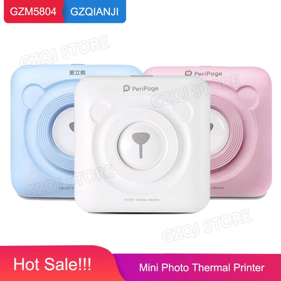 Mini POS Portable Poche Imprimante Mobile Thermique Bluetooth 58mm Mini Sans Fil POS Thermique Imprimante Photo pour Android iOS Téléphone