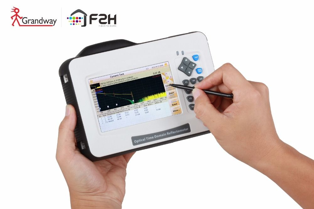 Grandway F2H Mini OTDR Fiber Optic , 26/24dB, 1310/1550nm, built-in VFL , power meter, 5 inch Touch Screen, with Carrying Bag
