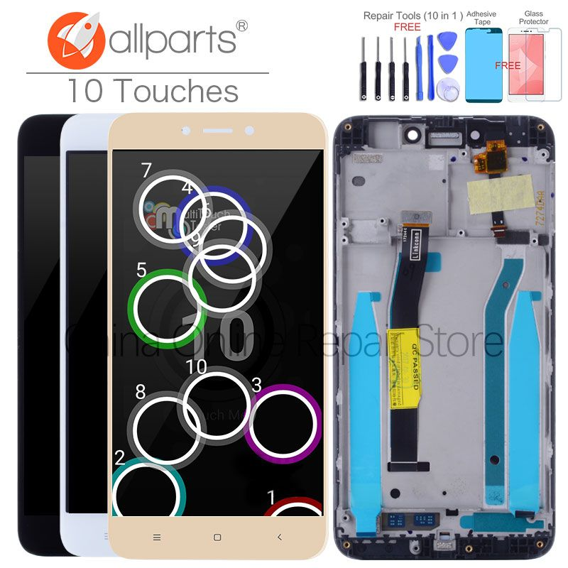 10 Touches Original For XIAOMI Redmi 4X LCD Display Touch Screen Assembly with Frame <font><b>Global</b></font> Display For XIAOMI Redmi 4X LCD Pro