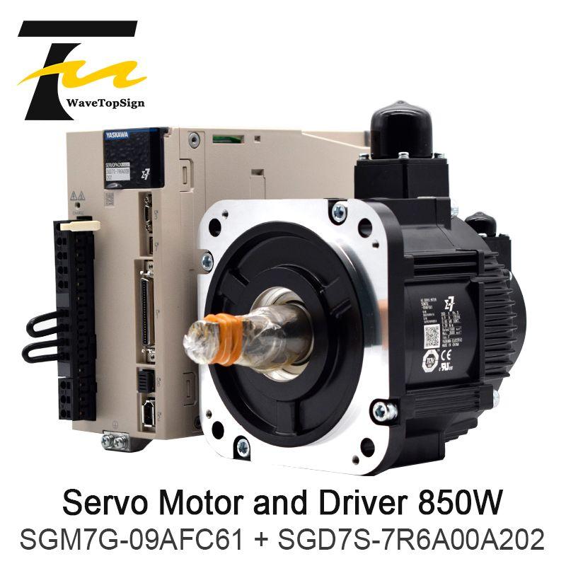 YASKAWA 850W Servo Motor SGM7G-09AFC61 + Fahrer SGD7S-7R6A00A202 + Anschluss Kabel 5Meter