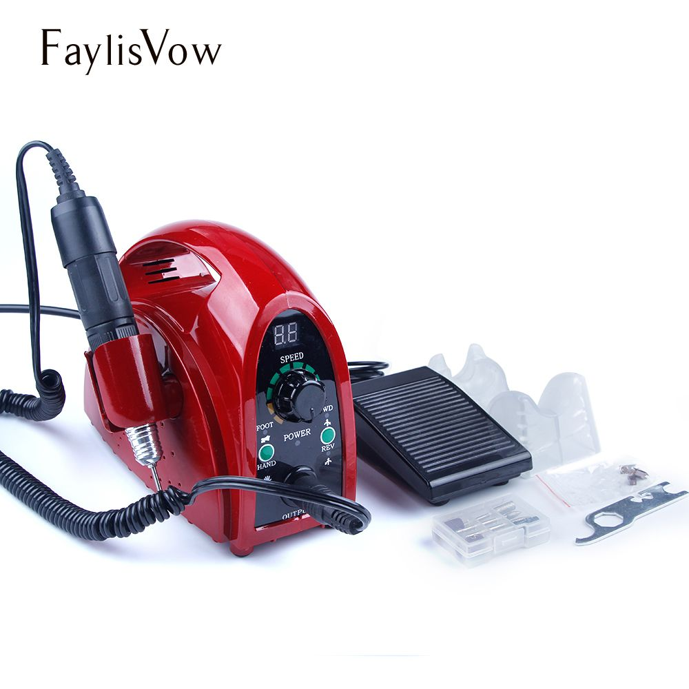 65W Apparatus for Manicure Pedicure Nail Art Milling Cutters Nail Drill Bits Set Professional 35000rpm Electric Manicure Machine