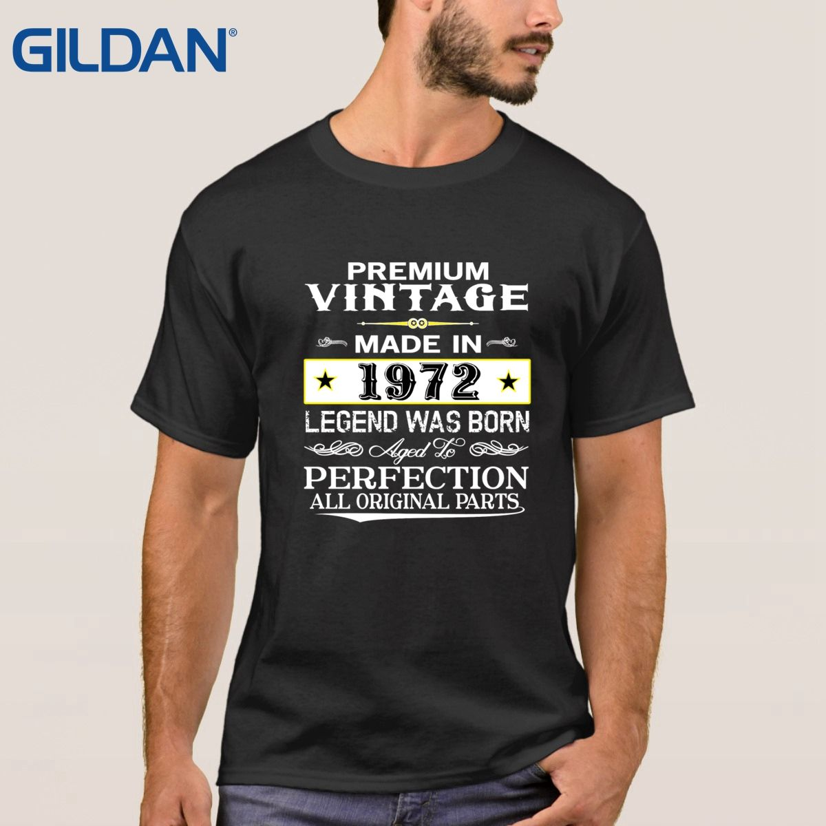 Made in 1972 Born 45th Year Birthday Age Present Vintage Tricolor t shirts mans Fashion Customize t shirts Size shirt design