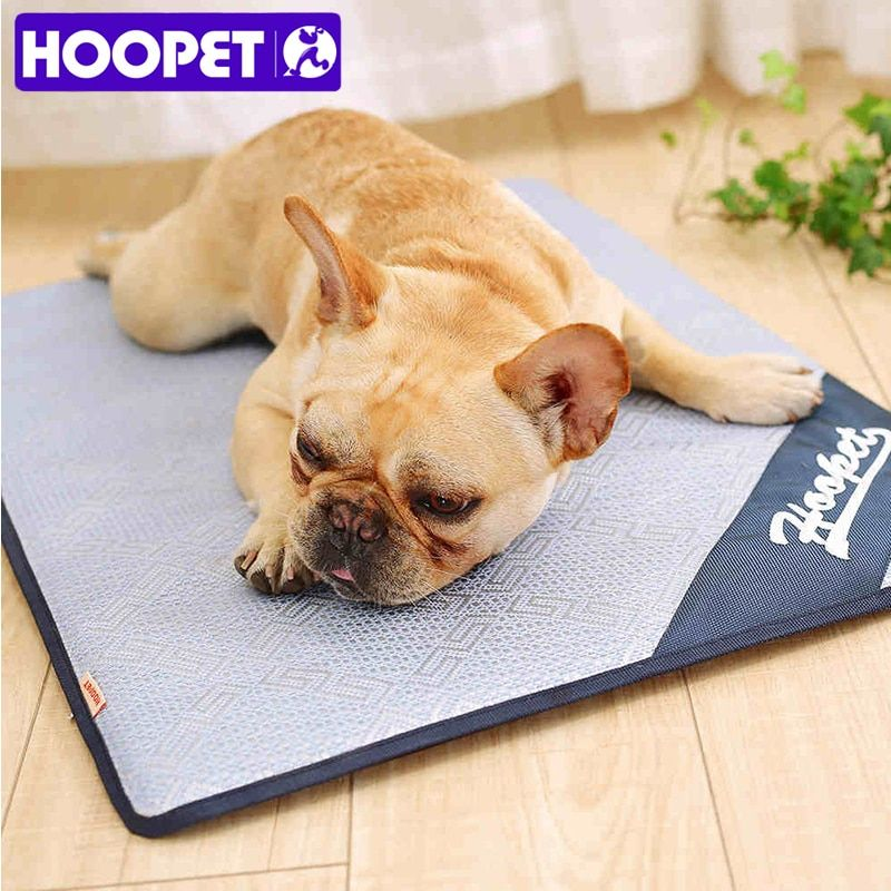 HOOPET Breathable Pet Dog Cat Summer Sleeping Mat Self Cooling Mattress Straw Mat <font><b>Cold</b></font> Pad Ice Cushion