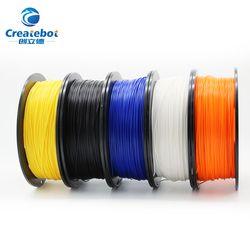 Createbot 3D imprimante filament PLA 1.75mm 1 kg/500g en plastique Caoutchouc Consommables Matériel coloré En Plastique Filament Matériaux