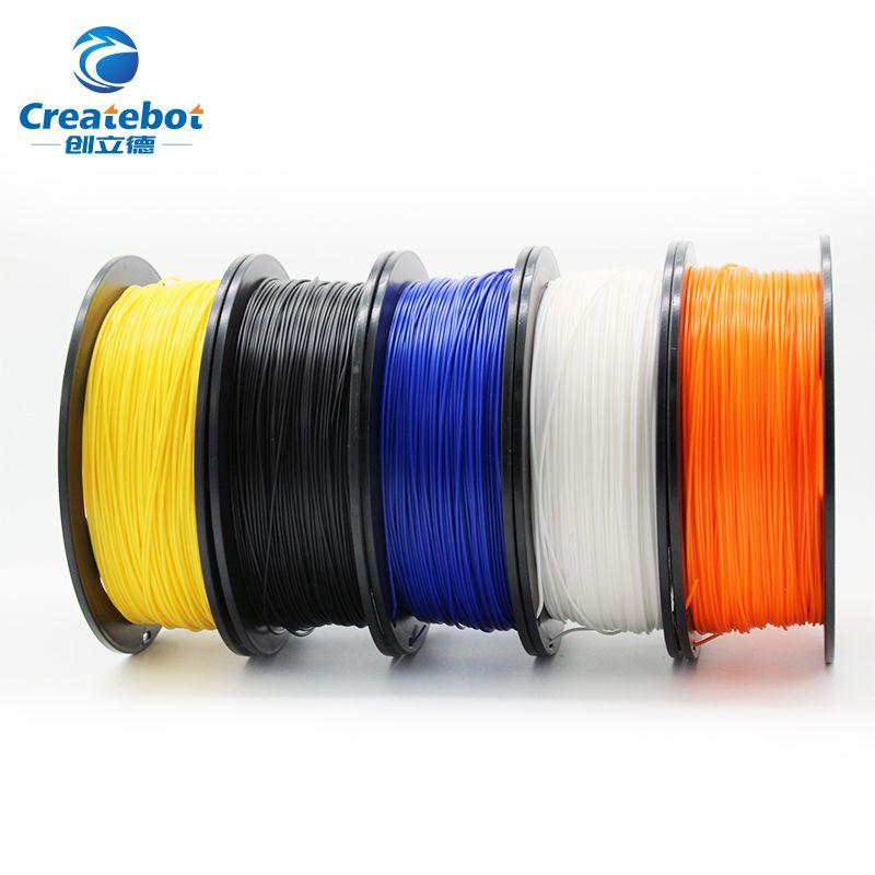 Createbot 3D printer filament PLA 1.75mm 1kg/500g plastic Rubber Consumables Material colorful Plastic Filament Materials