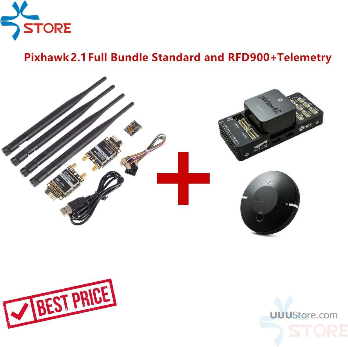 Hex Technologie Pixhawk 2,1 Volle Bundle Standard Träger Bord RFD900 + Telemetrie Combo