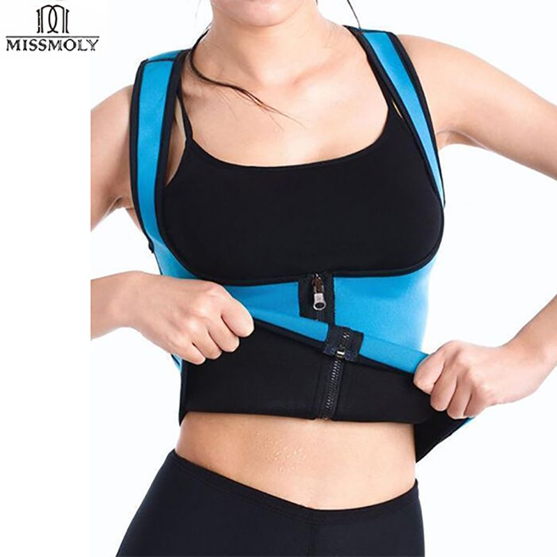 EXTREME Slimming Thermo Cami Hot Slim Belt Neoprene Hot <font><b>Body</b></font> Shaper Vest Sweat Waist Trainers Shapewear Zipper Vest Strap Women