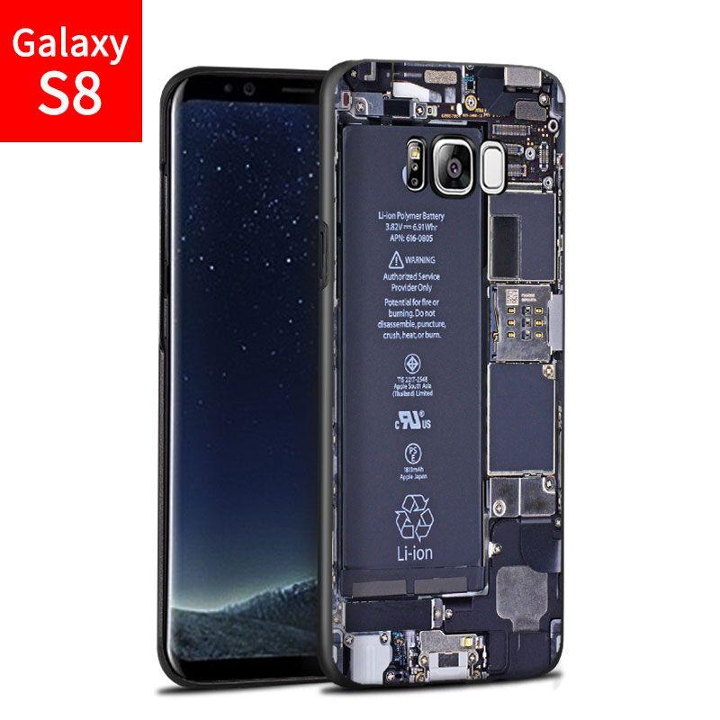 2017 Nouvelle mode Pour Samsung Galaxy S8 cas, 3D bande dessinée sur mesure peint cas de couverture arrière pour Samsung Galaxy S8 personnalisation