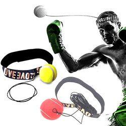 Gym Olahraga Tinju Melawan Bola dengan Kepala Band untuk Refleks Kecepatan Boxer Latihan Tinju Punch Latihan Gym Kebugaran Drop Pengiriman #10