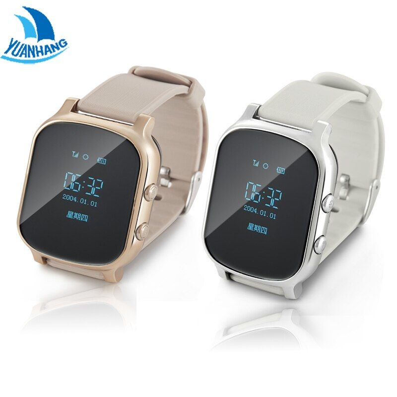 YH OLED Screen T58 Smart GPS WIFI Tracker Locator Anti-Lost Watch for Kid Elder Child Student Smartwatch with SOS Remote Monitor