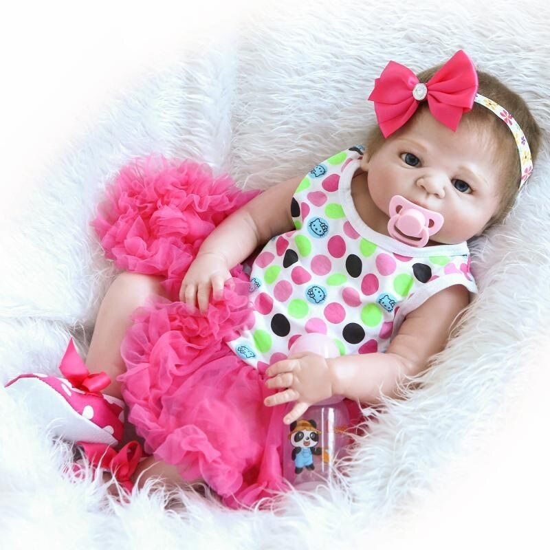 55 cm silicona reborn bebé muñeca juguete recién nacido princesa Toddler babies alive bebe reborn muñeca con Chupetes Kid regalo