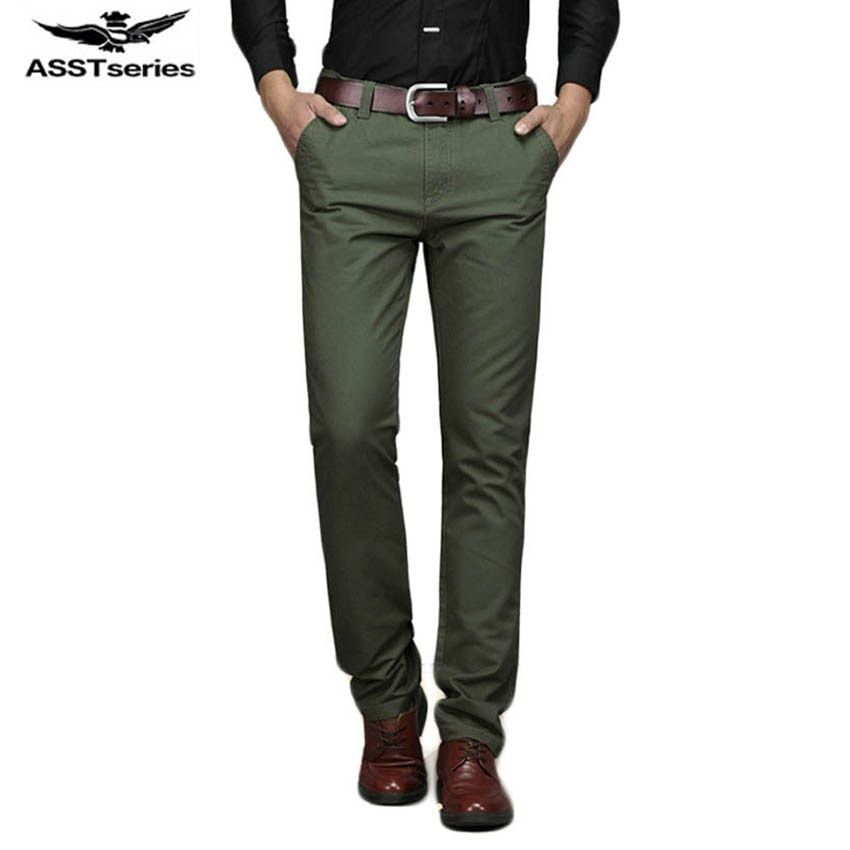Free shipping Male thin straight Slim cotton casual pants High-quality solid color men's casual trousers 4 colors 58yw