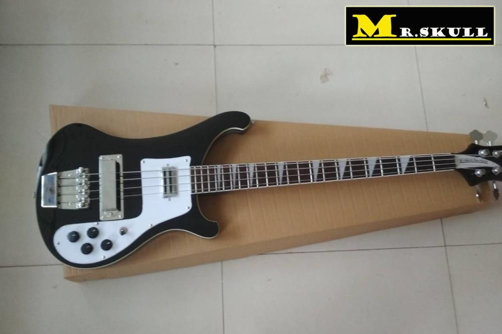 OEM Bass Guitars Rickenback 4003 black electric bass guitar with 4 strings