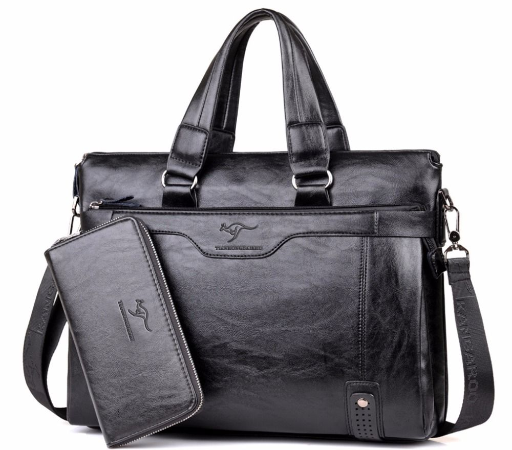 2018 Men Casual Briefcase Business Shoulder Leather Messenger Bags Computer Laptop Handbag Men's Travel Bags handbags