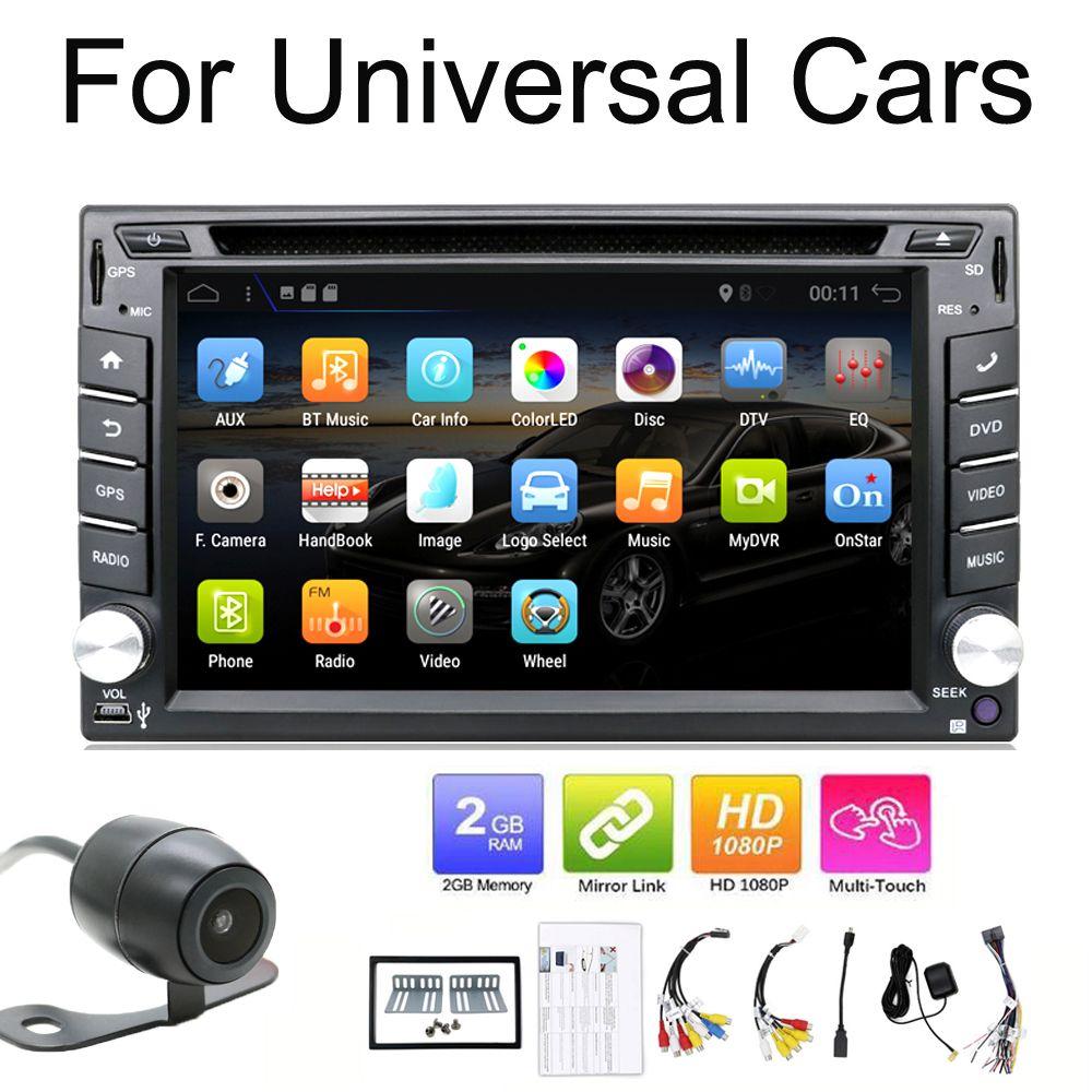 2 din android auto radio band recorder audio stereo Für Universal 2din autoradio auto dvd GPS Navigation Steering-Rad wifi Karte