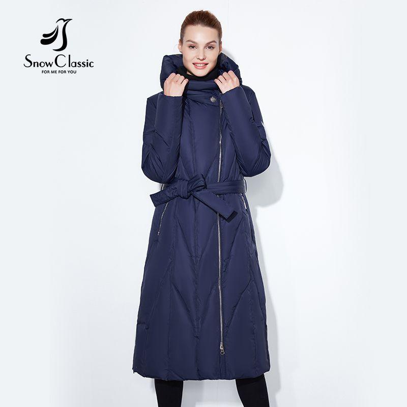 Schnee Klassische 2017 winter plus fett zu erhöhen die code dicken dame warme kalt kalt mantel baumwolle gürtel lap lange zipper hut jacke