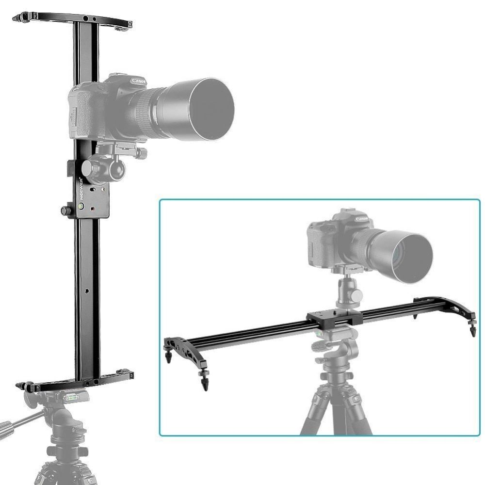 Neewer 47/120cm Camera Track Dolly Slider Video Stabilizer Rail System for Canon/Nikon/Pentax/Sony/Olympus Camcorder DSLR