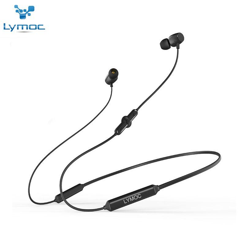 LYMOC Bluetooth Drahtlose Kopfhörer Neckband Sport Workout Headset V4.2 Ohrhörer Wasserdicht HD Mic Freihändiger Ohrhörer für Telefon