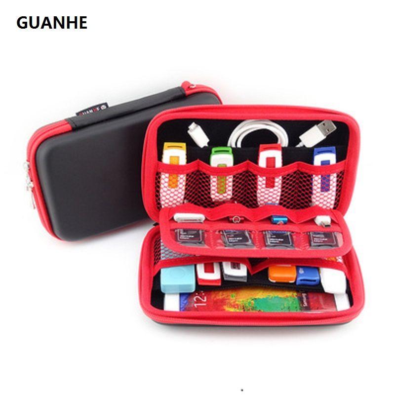 GUANHE Transporter externe disque dur Cas Organisateur Petit, multiples USB Bâtons, Cartes mémoire, câbles & Smart Mobile Téléphone Câbles