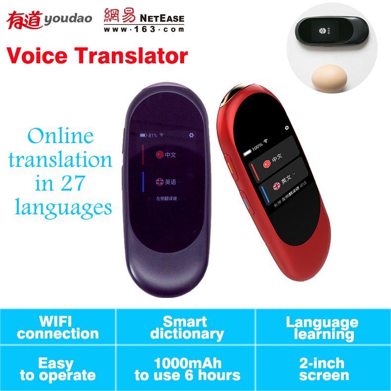 Voice translator with wifi 27 language translation mini simultaneous translation 2.0