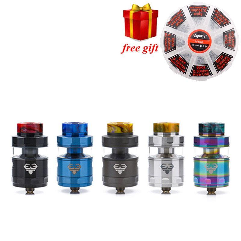 Freies geschenk!! GeekVape Blitzen RTA 5 ML version geekvape rta postless bauen deck gleichmäßigen luftstrom für geekvape gbox mod als ammit dual