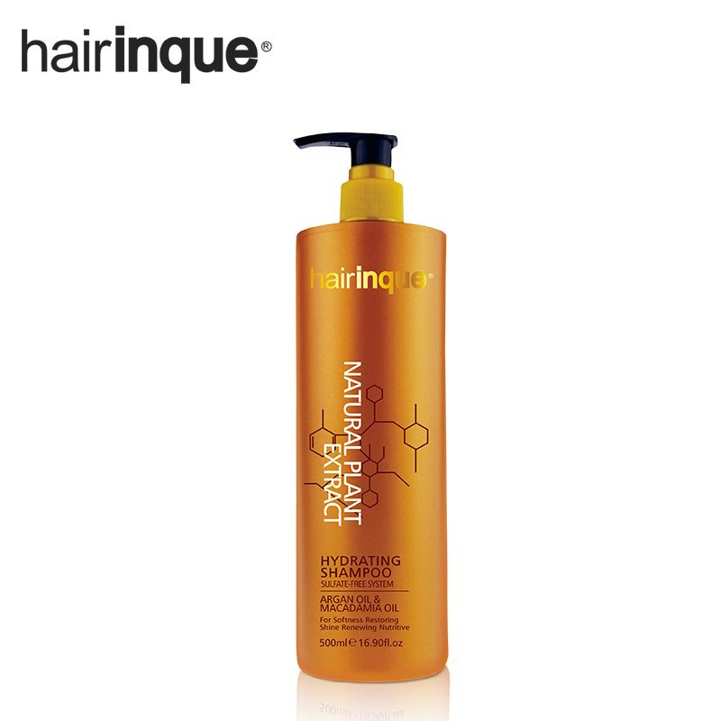 HAIRINQUE 500ml Sulfate-free professional argan oil and macadamia nut oil hydrating hair shampoo healthier and organic