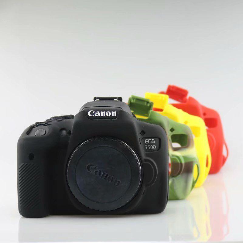 Caméra étui en caoutchouc silicone Couverture Pour Canon EF 100D 200D 600D 650D 700D 750D 1300D 1500D 5D4 5D3 6D DSLR Caméra