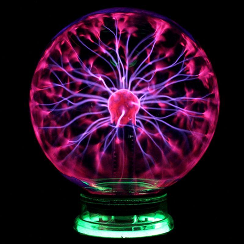 Новинка Стекло Магия Плазменный Шар Света 3 4 5 6 дюймов настольные лампы Sphere ночник дети подарок для Новый год Magic плазменный ночника