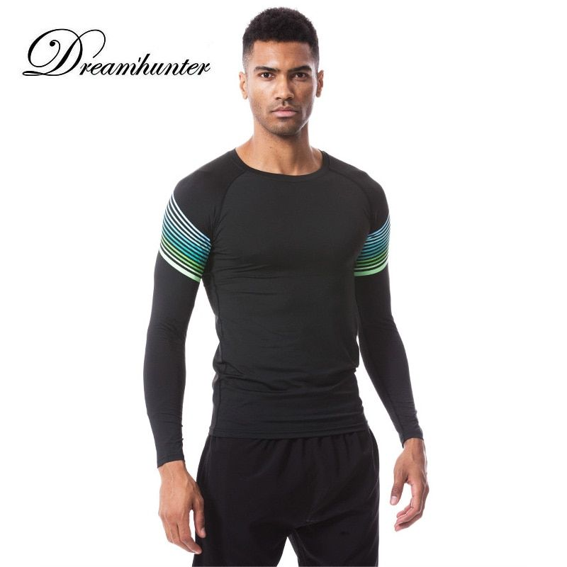 Pro Long Sleeve Running T Shirts Men Quick Drying Gym Sports Basketball Jerseys Compression Fitness Tights Tops Sweatshirts