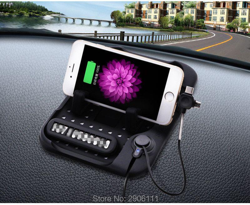 Multi-functional Car Navigation Mobile Phone Anti-Slip Mat USB Charger for Lada kalina granta priora niva largus samara vesta