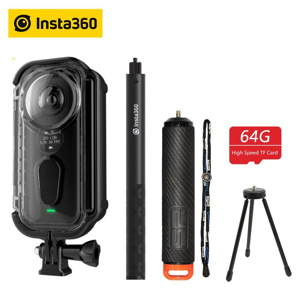 Insta360 ONE X caméra d'action VR 360 caméra panoramique pour iPhone et Android 5.7K vidéo 18MP Photo bâton de Selfie Invisible