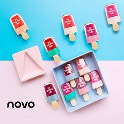 Novo marca 6 colores batom Super helado Brillo de labios impermeable duradera cosmética líquido Pintalabios dulce rojo LIP tint