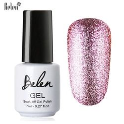 Belen 7 ml Bling Warna Platinum Kuku Gel UV Gel Kuku Warna Vernis Semi Permanen Nail Primer Gel Polish Lak Pernis Lacquer