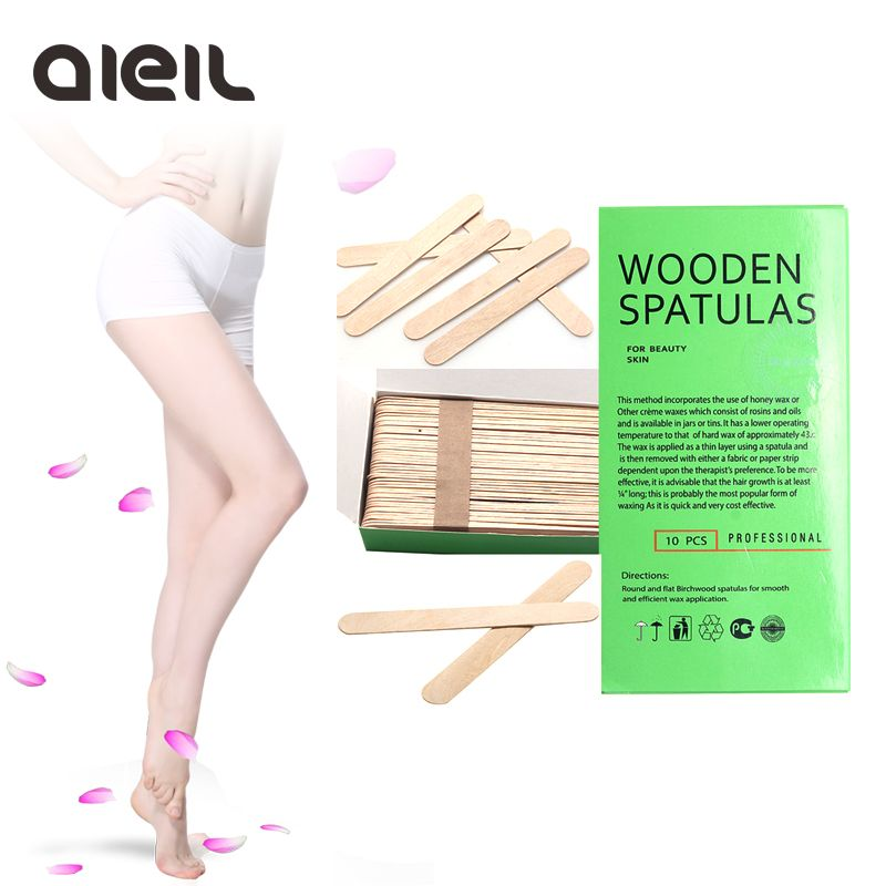 100PCS Wooden Body Hair Removal Sticks Wax Waxing Disposable Sticks  Beauty Toiletry Kits Wax Waxing Disposable Sticks