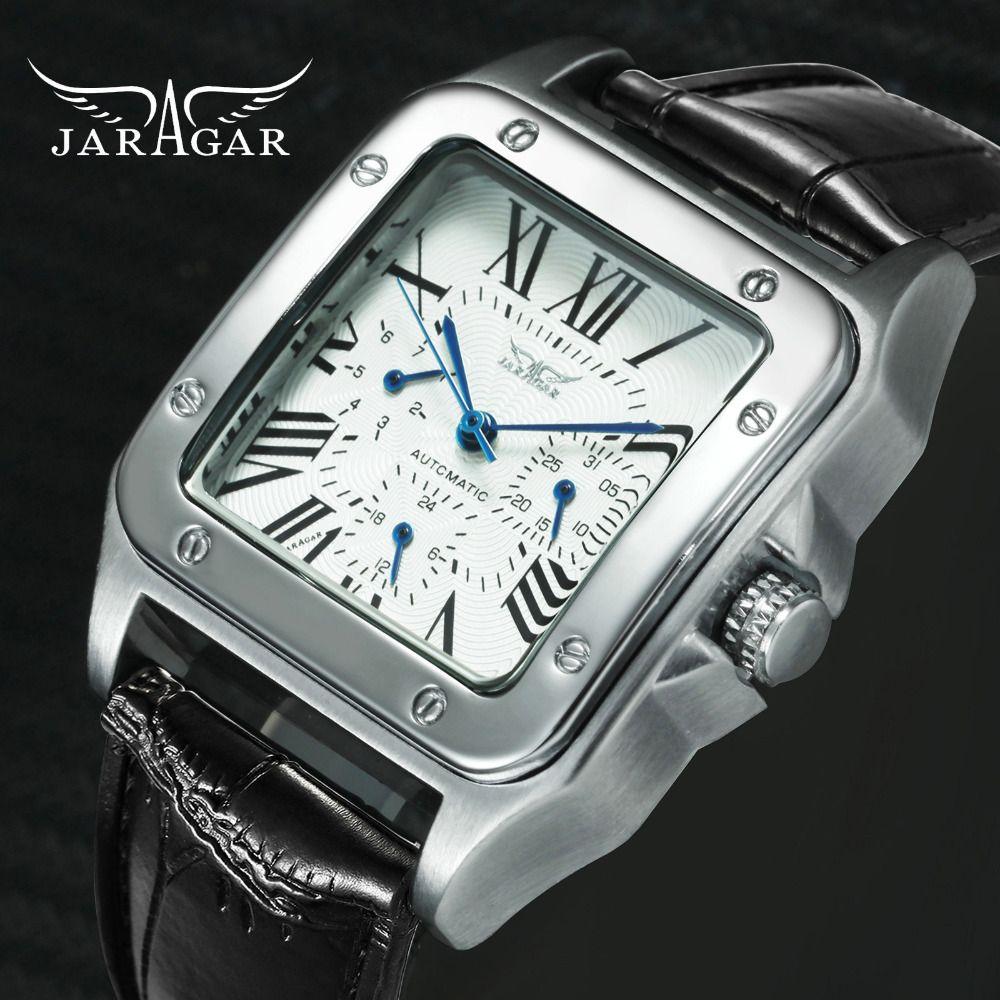 JARAGAR Top marque montres de luxe pour hommes femmes unisexe automatique mécanique 3 sous-cadrans de travail mode robe montre-bracelet homme