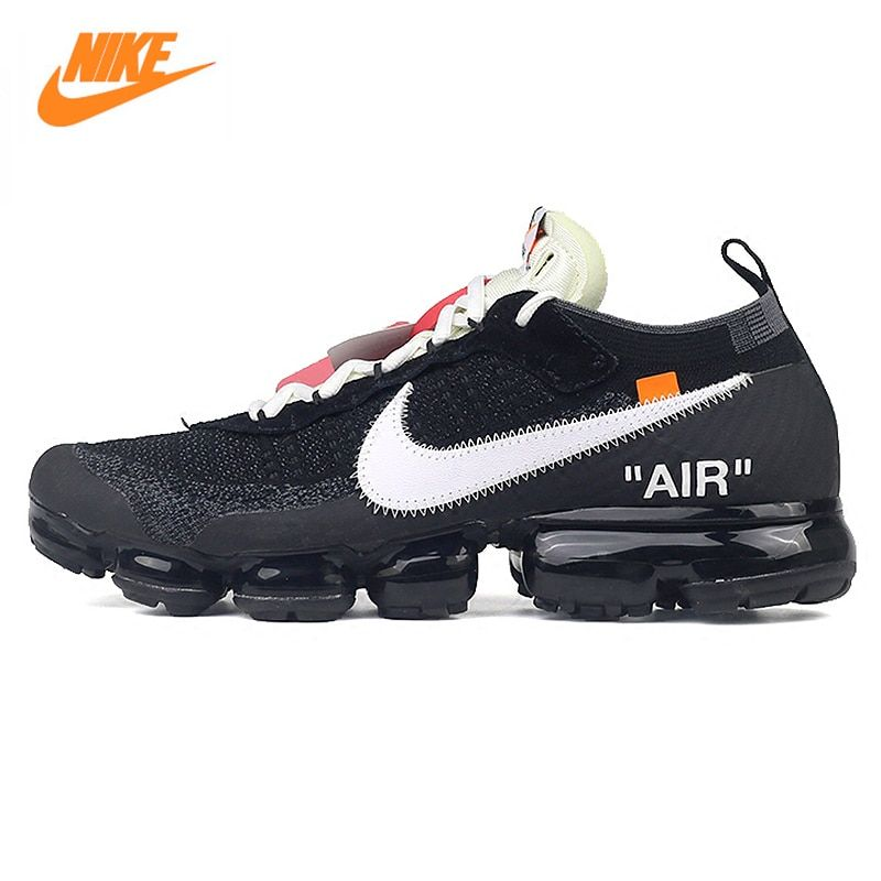 Nike X OFF-WHITE AIR VAPORMAX OFW Men's Running Shoes Sneakers, Black and White Color AA3831