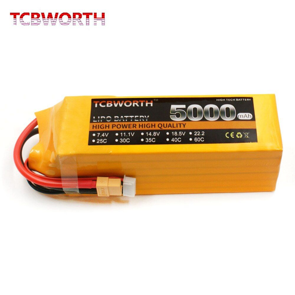 RC LiPo battery 4S 14.8V 5000mAh 60C RC Li-ion Battery for RC Airplane Drone Helicopter Quadrotor recharge battery