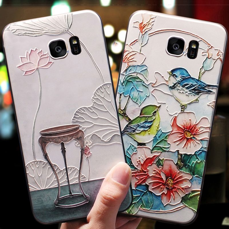 YueTuo 3d Shockproof coque,cover,case For Samsung Galaxy S7 S 7 / S7 Edge s7edge Original Luxury phone Back cute 360 cases