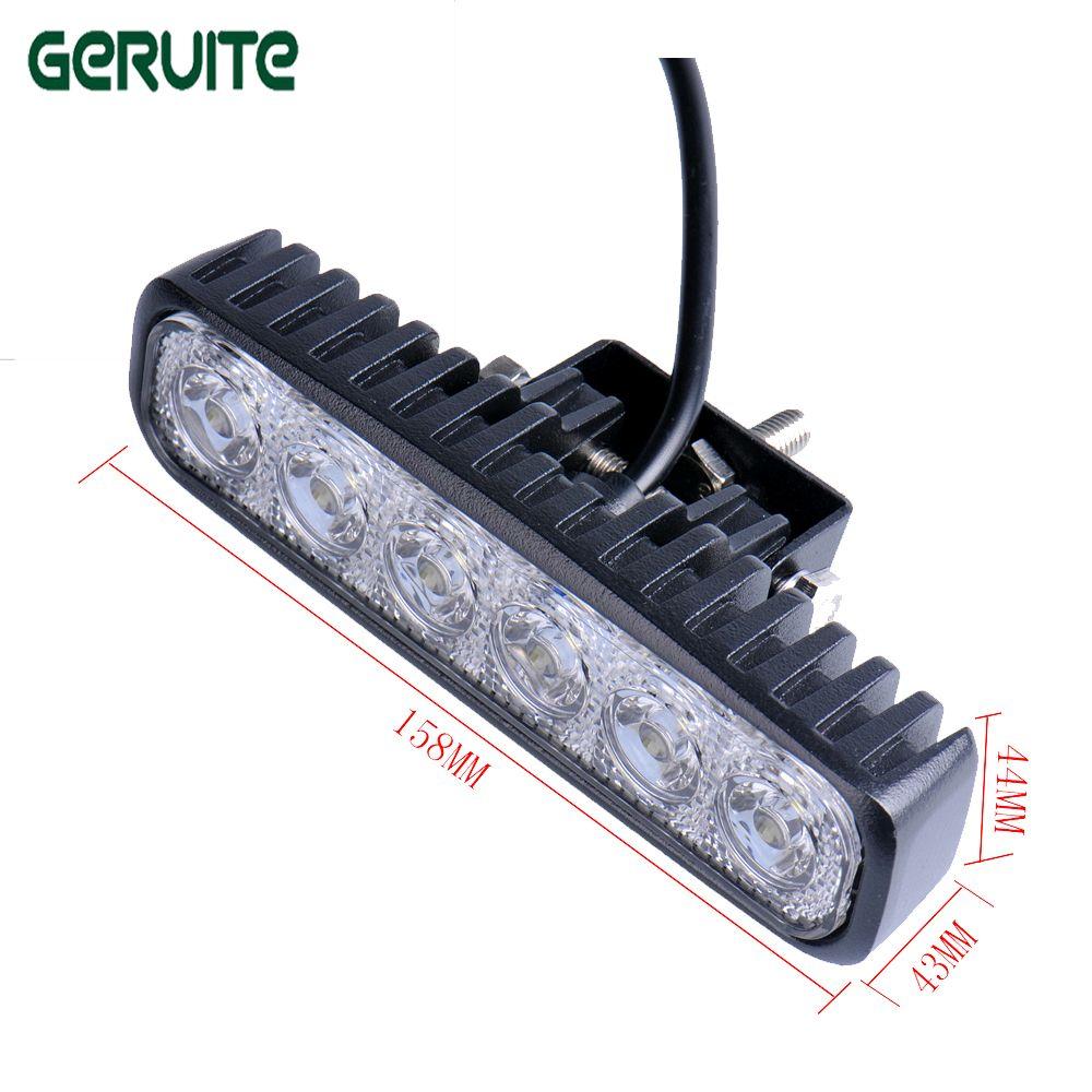 2 pièces/lot 6 pouces 18 W 12 V LED voiture lumière Spot projecteur anti-brouillard pour camion de bateau tout-terrain ATV 4x4 LED lumière de conduite