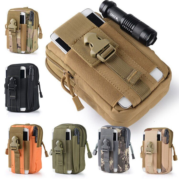 2017 Hot Camping Klettern Bag Outdoor Tactical Military Molle Hüfte Taille Gürtel Mappenbeutelhandtasche Telefonkasten für IPhone 7