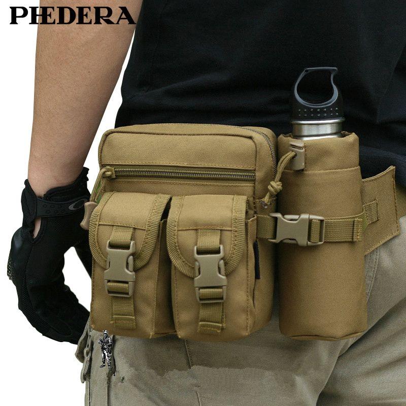 Nouveaux sacs de Camouflage de voyage militaires femmes hommes sacs de taille avec porte-bouteille en plein air hommes en Nylon sac de ceinture détachable