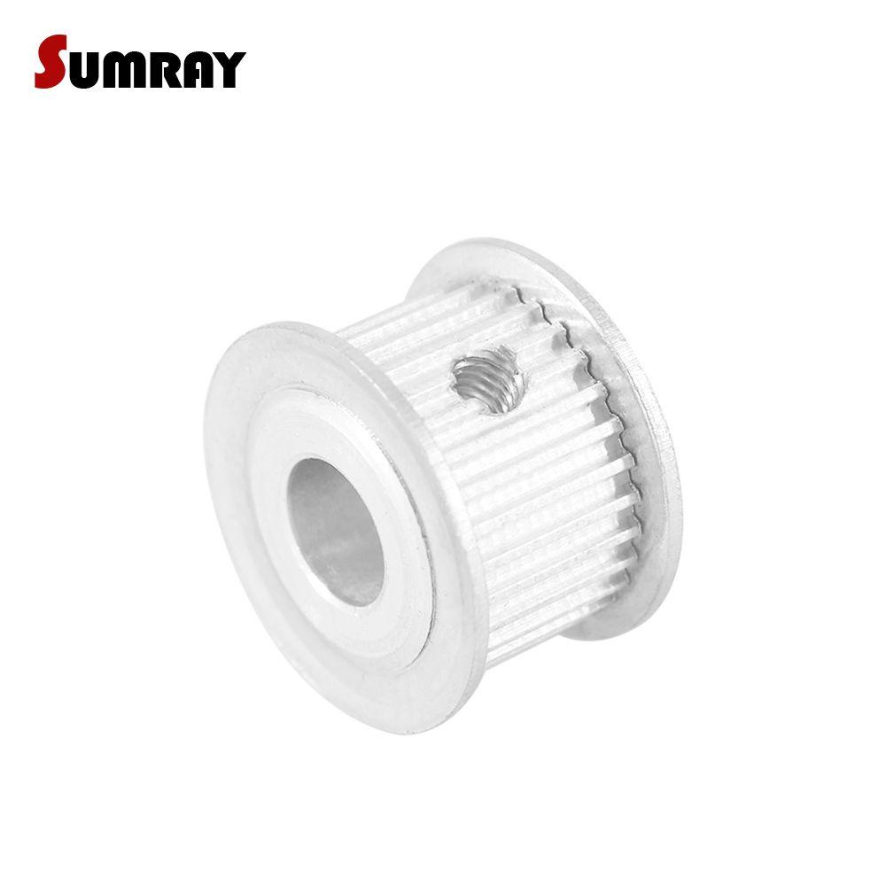 SUMRAY 3 mt 30 t Timing Pulley 5/6/6,35/7/8/10/12mm Innen Bohrung Zahn Gürtel Pulley 11mm Breite Aluminium Motor Pulley für 3D Drucker