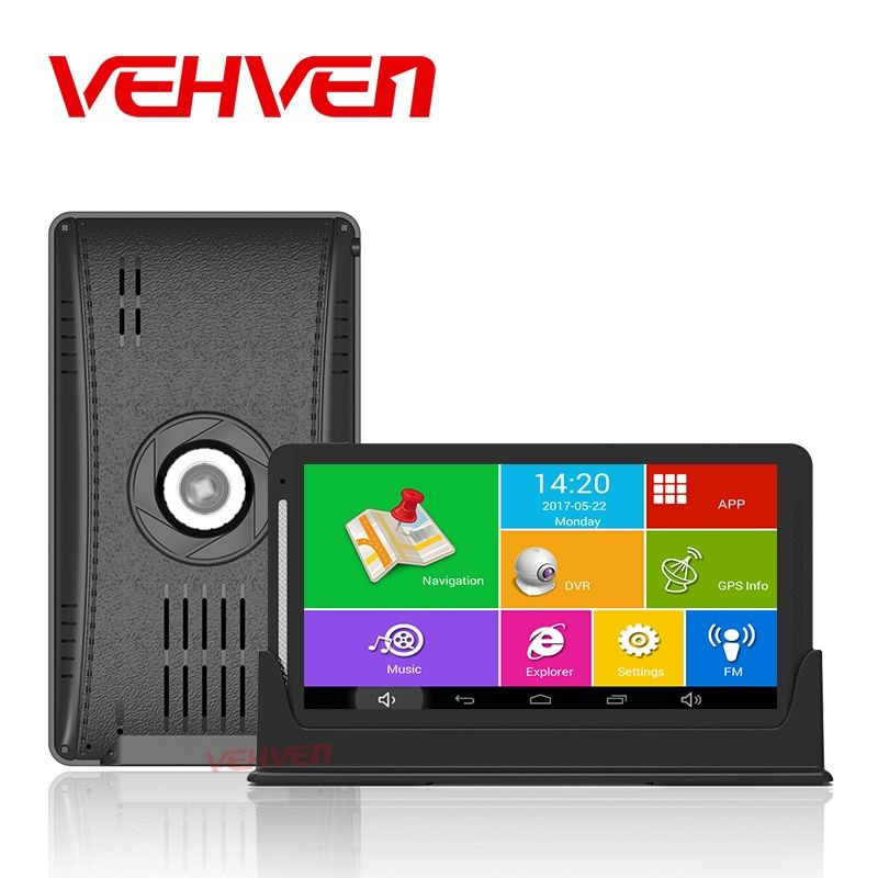 7 inch Car DVR GPS Navigation Android 1080P Recorder 512Mb 8Gb Truck Vehicle Center Console Gps Navigator With Rear View Camera