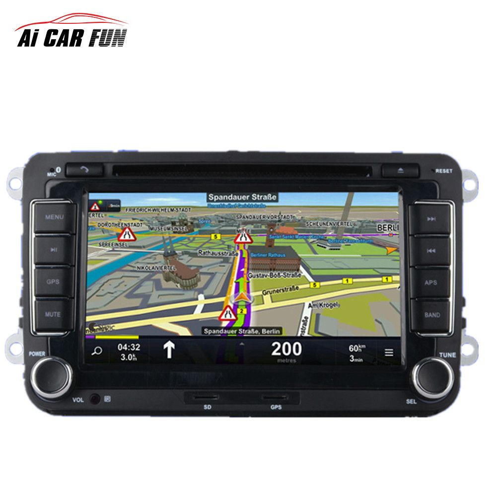 2 Din GPS Car DVD Radio Universal Player 7 inch for Volkswagen Backup Camera Media MP5 Player 2din car navigation