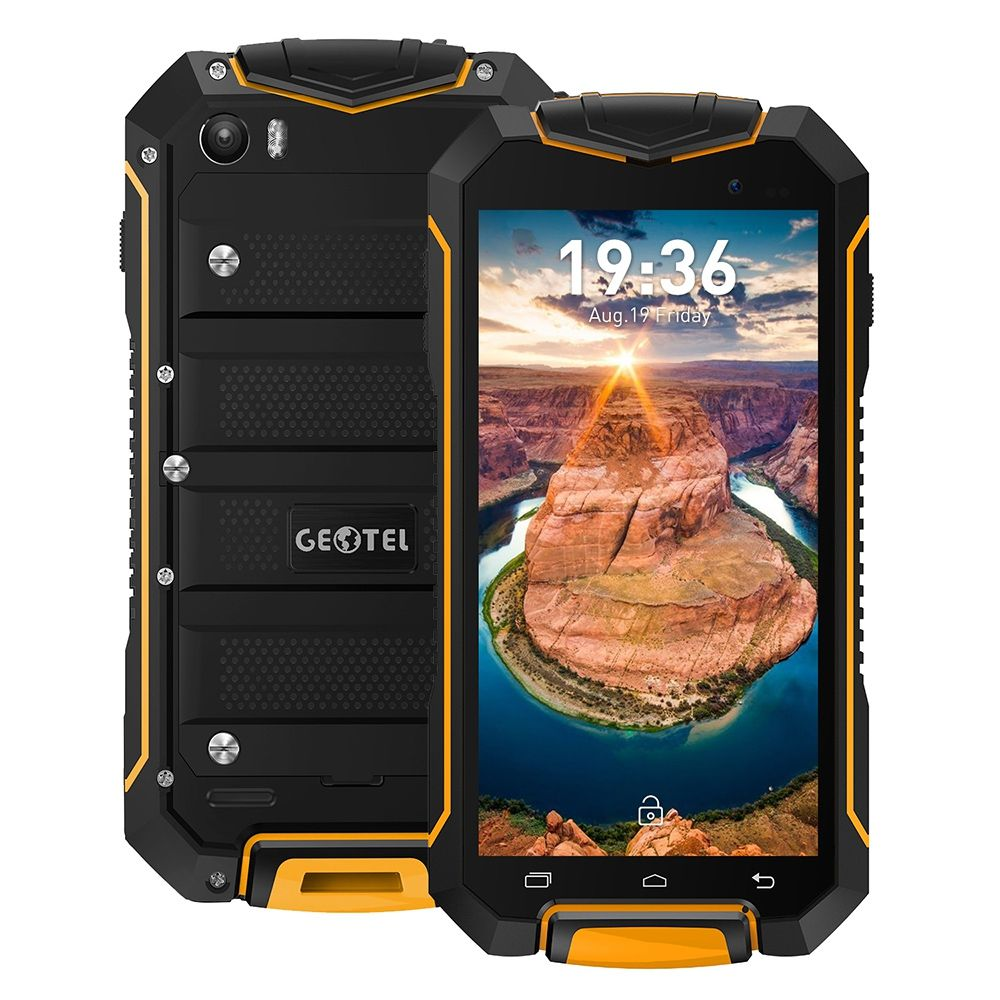 Original Geotel A1 3G Cellphone IP67 Waterproof 4.5 Inch MTK6580T Quad Core Android 7.0 1GB+8GB 1.3GHz 3400mAh Mobile Phones