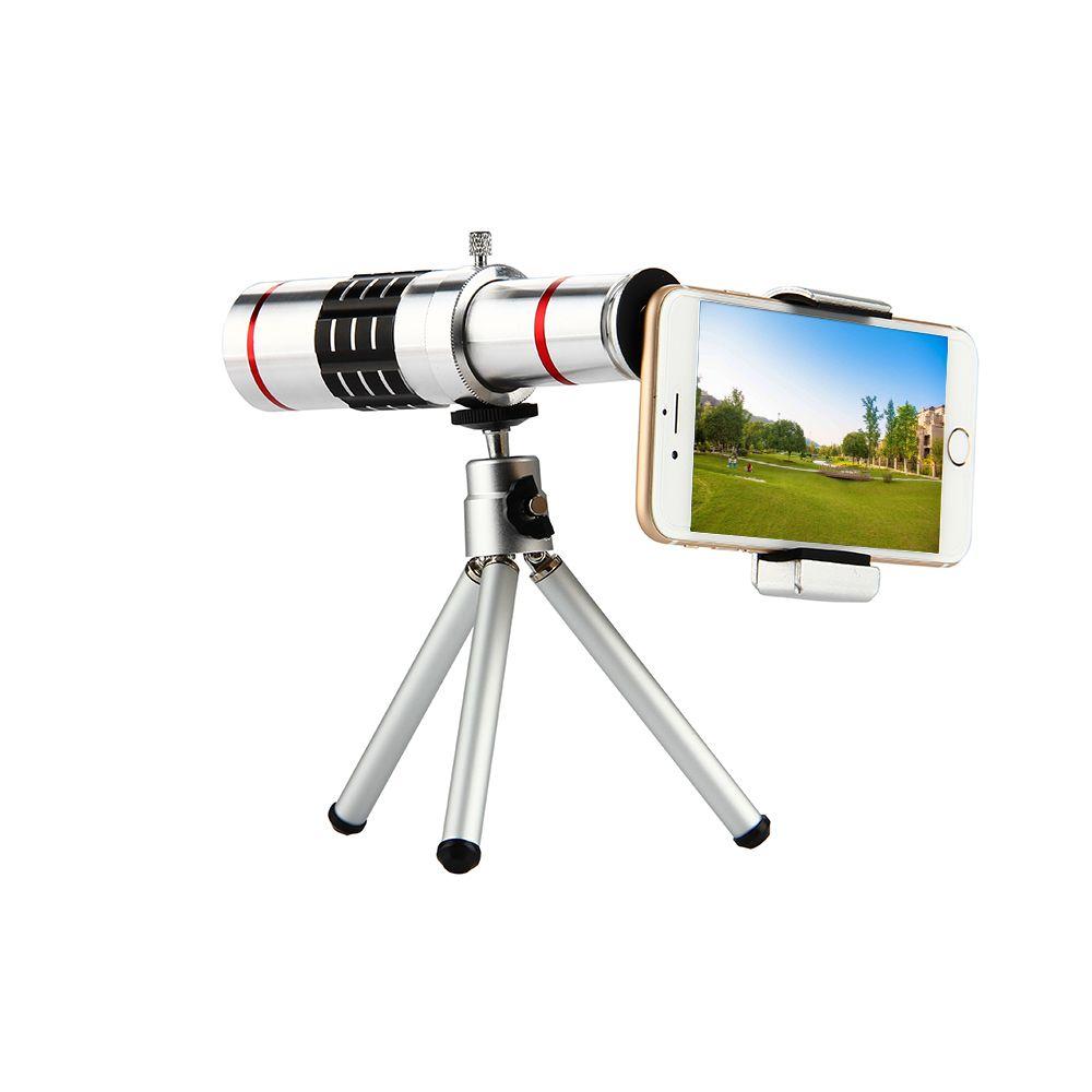 ET 18x Zoom télescope optique Téléobjectif objectif avec trépied kit de pince Universelle Téléphone Camera Lens pour l'iphone Samsung téléphone portable