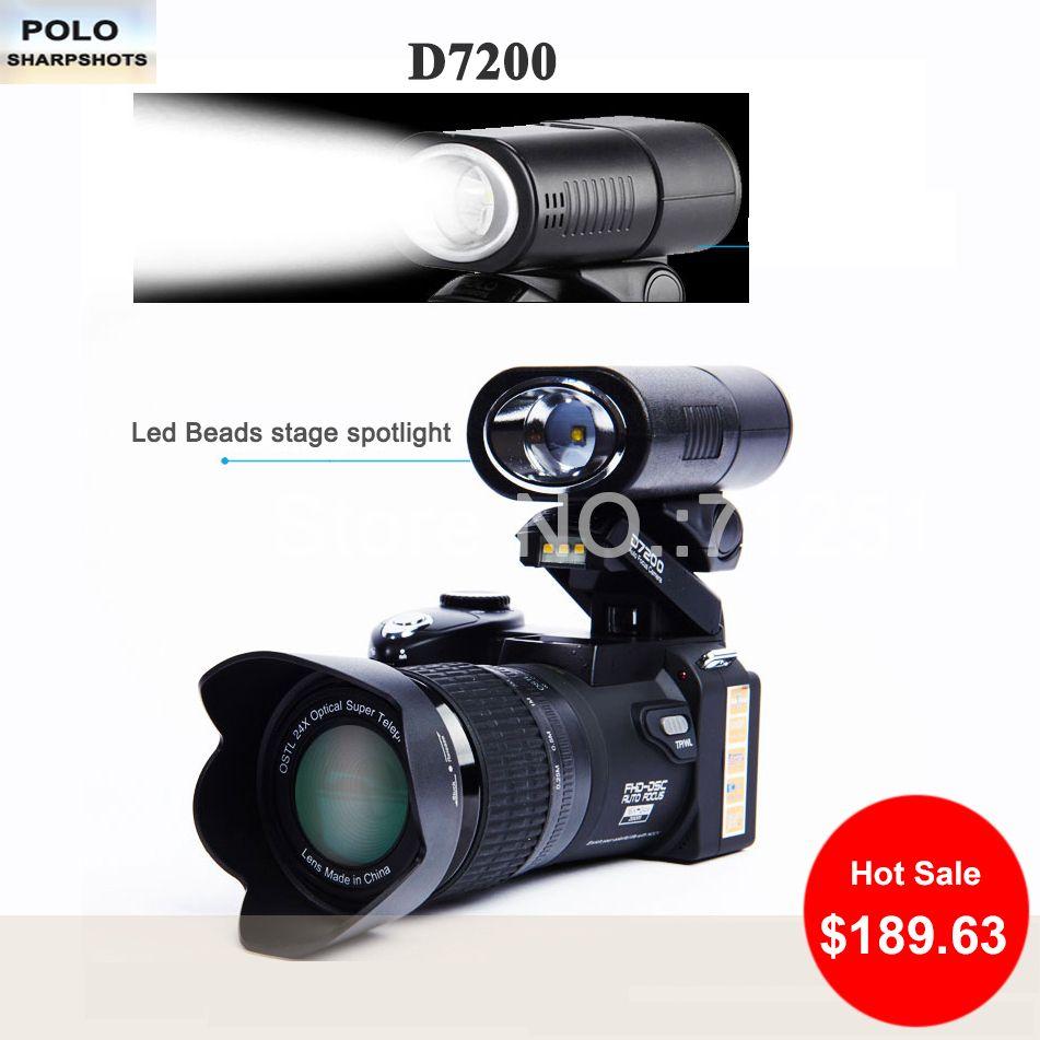 PROTAX D7200 digital cameras 13MP Micro DSLR cameras 24X Telephotos Lens 8X Digital zoom Wide Angle Lens LED Spotlight Camcorder